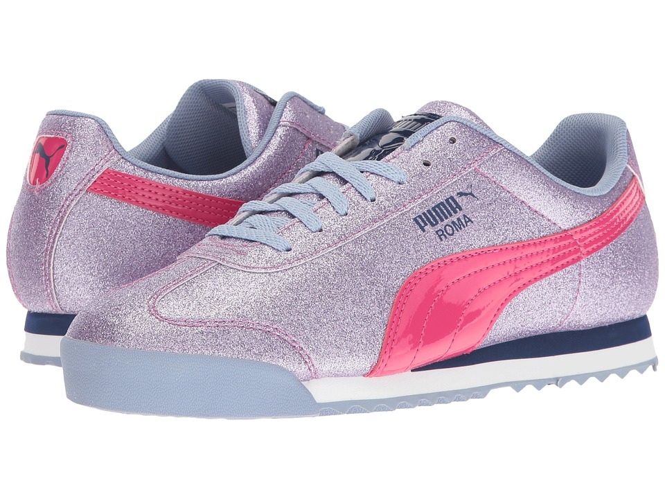 Puma Kids - Roma Glitz Glamm Jr (Big Kid) (Lavendar Lustre/Beetroot Purple) Girls Shoes