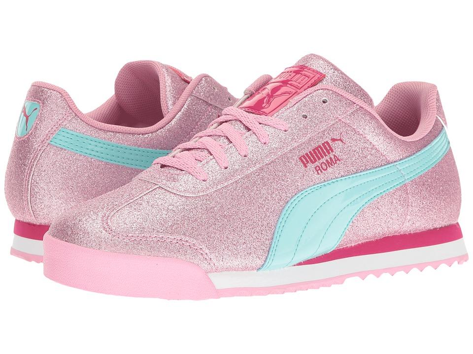 Puma Kids - Roma Glitz Glamm Jr (Big Kid) (Prism Pink/Aruba Blue) Girls Shoes