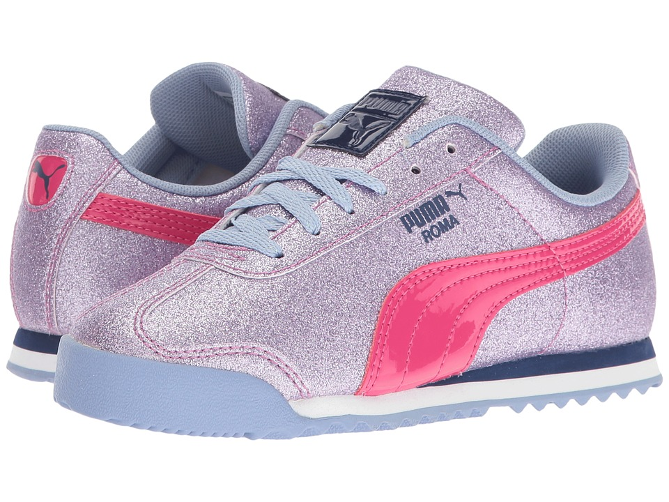 Puma Kids - Roma Glitz Glamm PS (Little Kid/Big Kid) (Lavendar Lustre/Beetroot Purple) Girls Shoes
