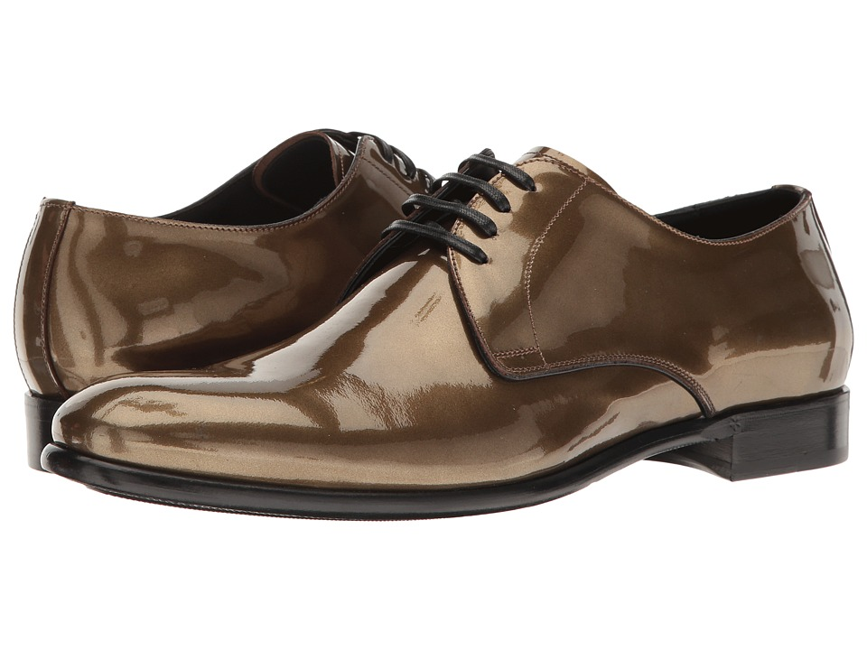 Dolce & Gabbana - Metallic Plain Toe Oxford (Gold) Men's Lace up casual Shoes