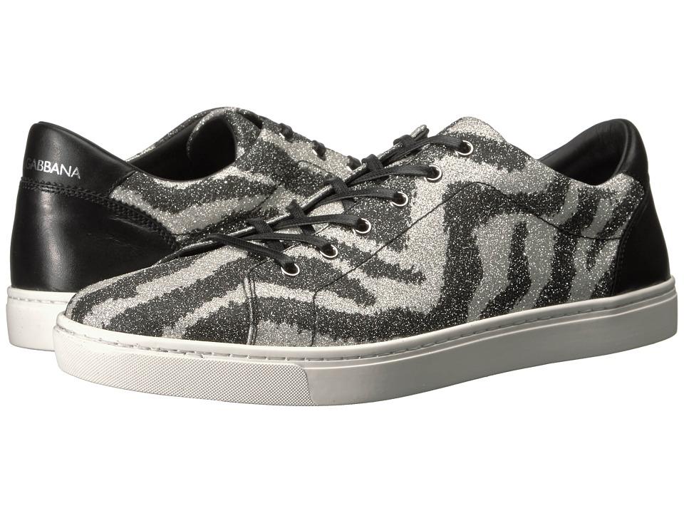 Dolce & Gabbana - Glitter Zebra Sneaker (Zebra) Men's Shoes
