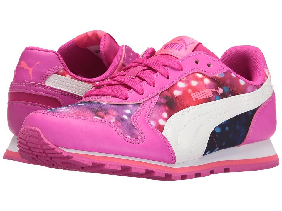 Puma Kids - St Runner NL Lights Jr (Big Kid) (Ultra Magenta/Puma White) Girls Shoes