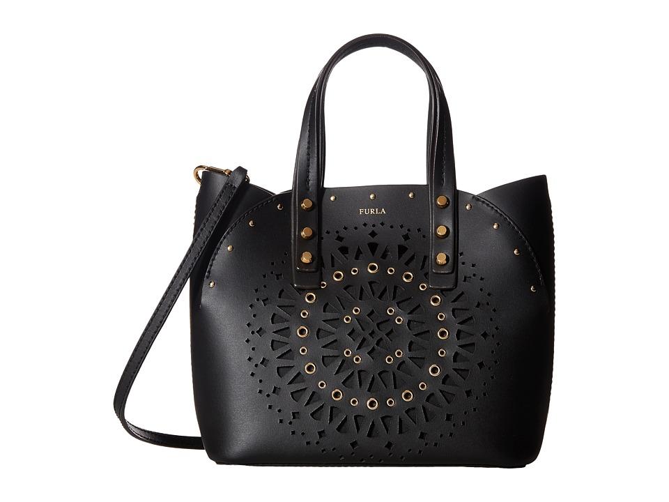 Furla - Aurora Small Tote (Onyx) Tote Handbags