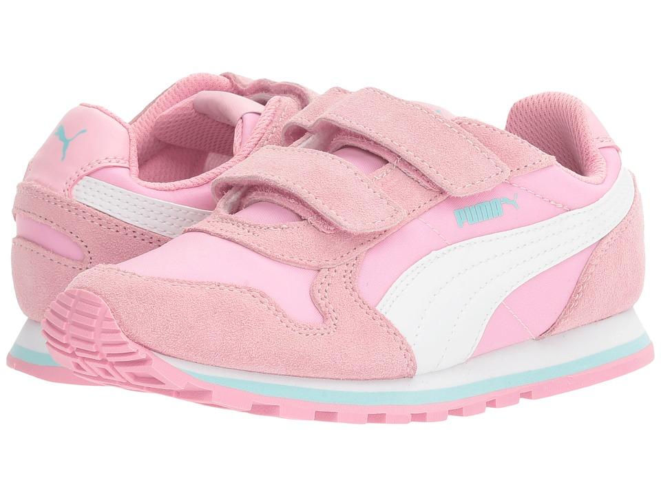 Puma Kids - ST Runner NL V PS (Little Kid/Big Kid) (Prism Pink/Puma White) Girls Shoes