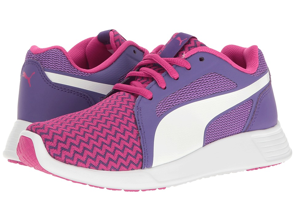 Puma Kids - St Trainer Evo Techtribe Jr (Big Kid) (Sparkling Cosmo/Puma White) Girls Shoes