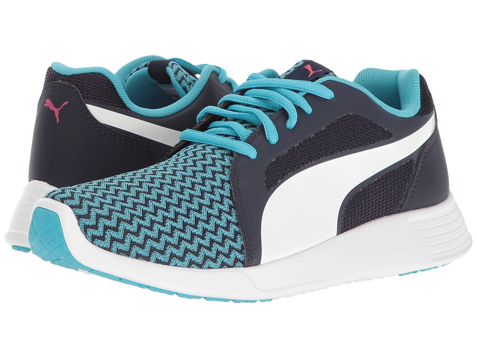 Puma Kids - St Trainer Evo Techtribe Jr (Big Kid) (Blue Atoll/Puma White) Girls Shoes