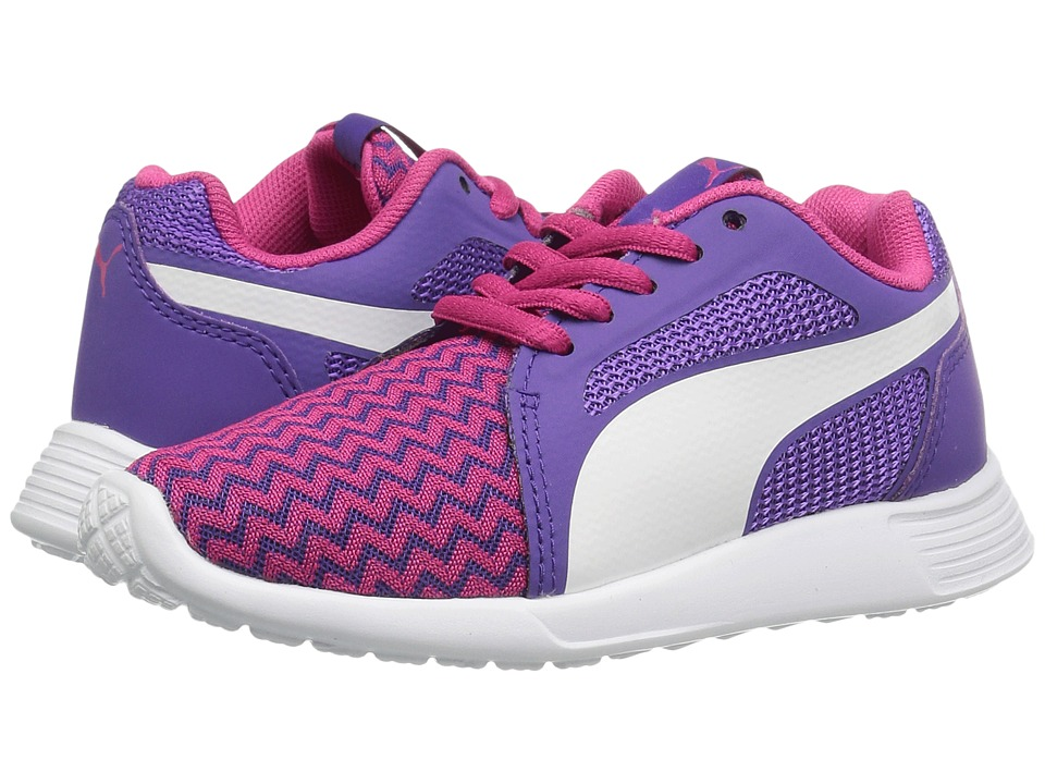 Puma Kids - St Trainer Evo Techtribe PS (Little Kid/Big Kid) (Sparkling Cosmo/Puma White) Girls Shoes