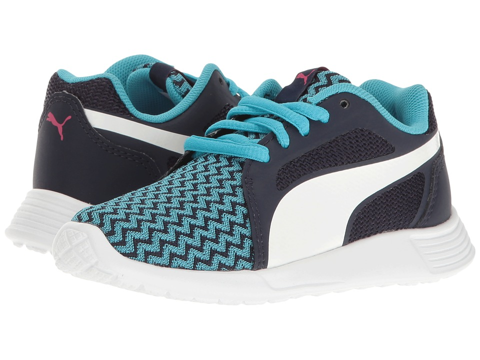 Puma Kids - St Trainer Evo Techtribe PS (Little Kid/Big Kid) (Blue Atoll/Puma White) Girls Shoes
