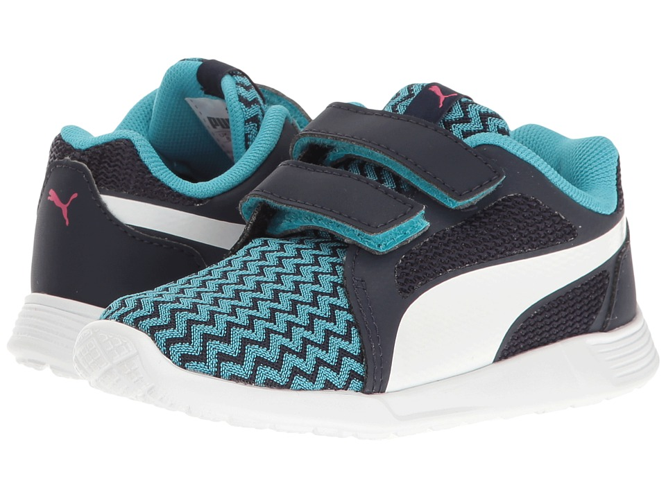 Puma Kids - St Trainer Evo Techtribe V INF (Toddler) (Blue Atoll/Puma White) Girls Shoes