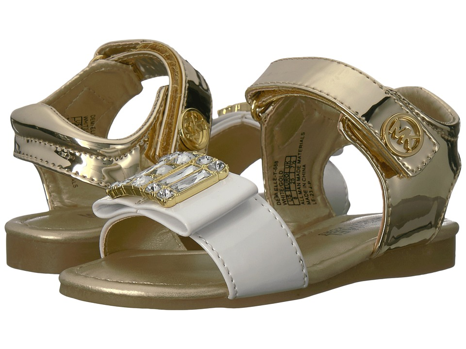 MICHAEL Michael Kors Kids - Demi Elle (Toddler) (White/Gold) Girl's Shoes