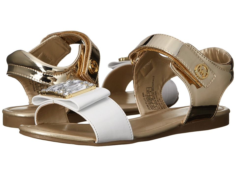 MICHAEL Michael Kors Kids - Demi Elle (Little Kid/Big Kid) (Gold/White) Girl's Shoes