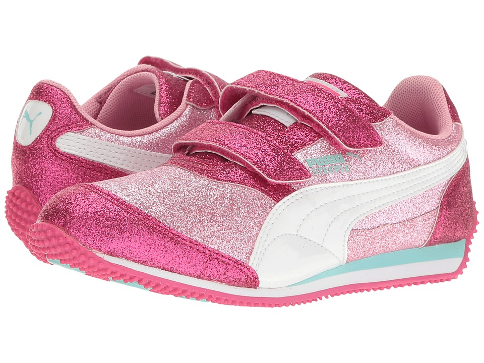 Puma Kids - Steeple Glitz Glam V PS (Little Kid/Big Kid) (Prism Pink/Puma White) Girls Shoes