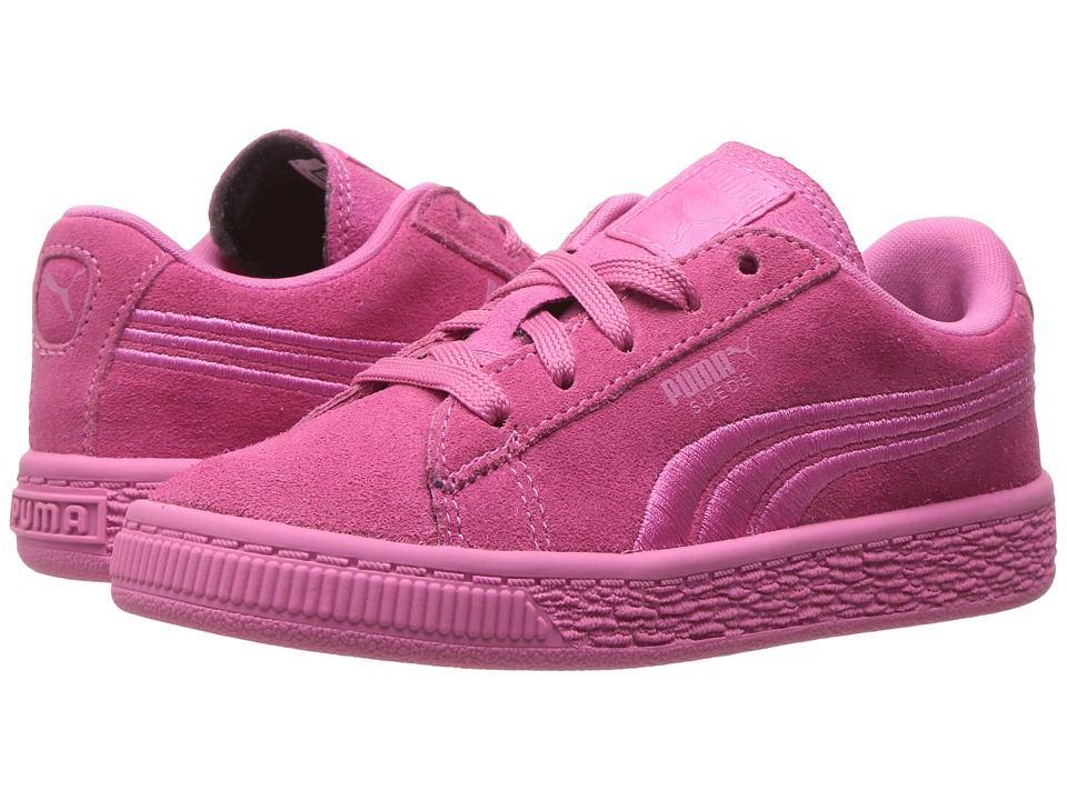 Puma Kids - Suede Classic Badge INF (Toddler) (Shocking Pink) Girls Shoes