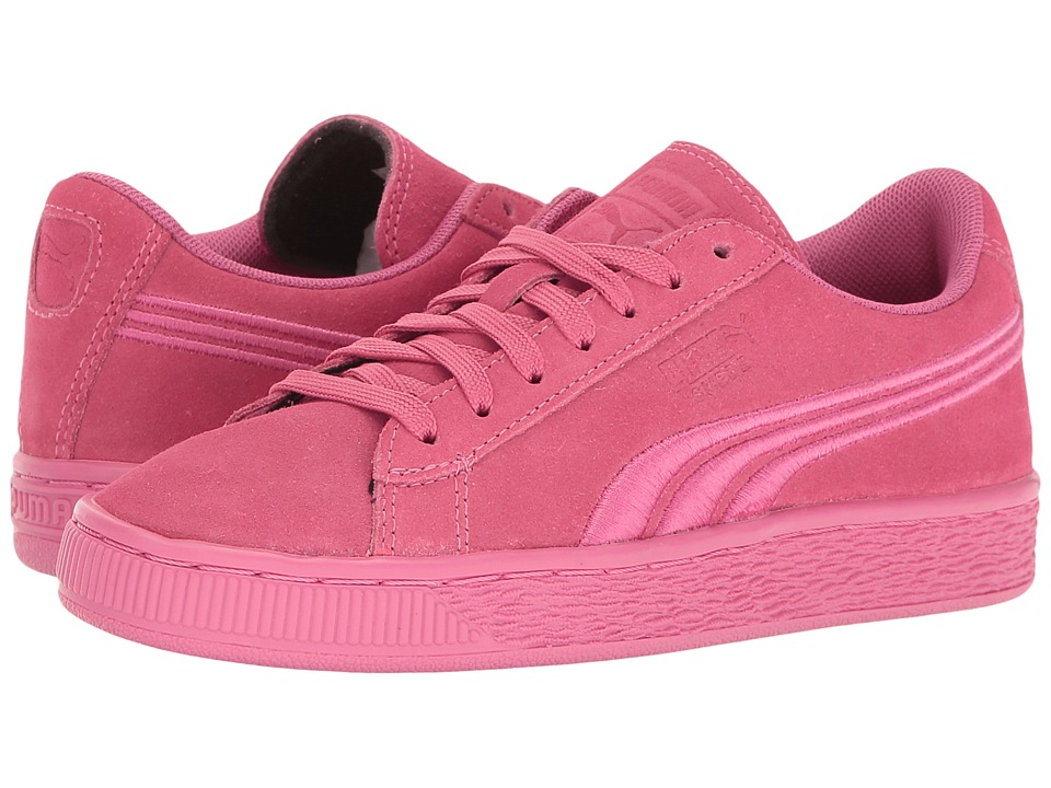 Puma Kids - Suede Classic Badge Jr (Big Kid) (Shocking Pink) Girls Shoes