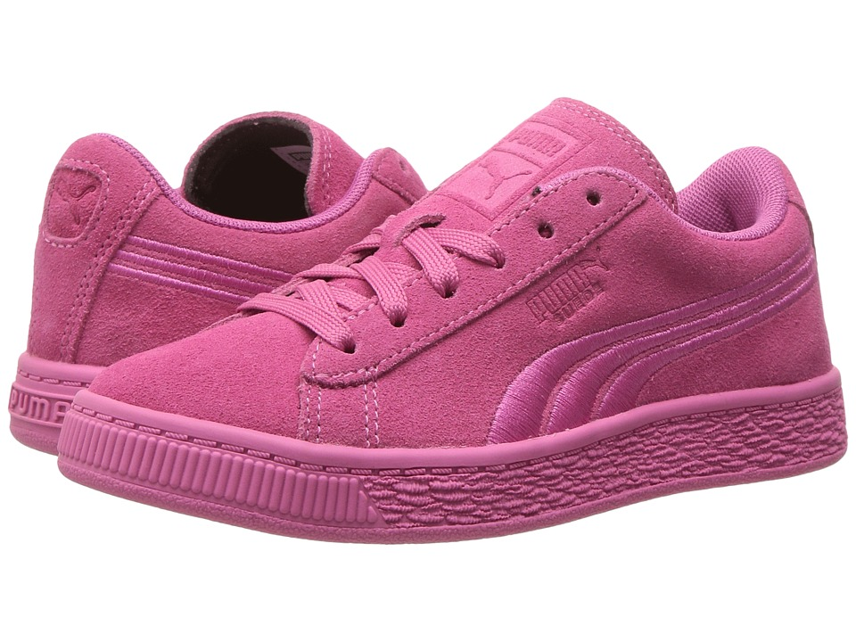 Puma Kids - Suede Classic Badge PS (Little Kid/Big Kid) (Shocking Pink) Girls Shoes