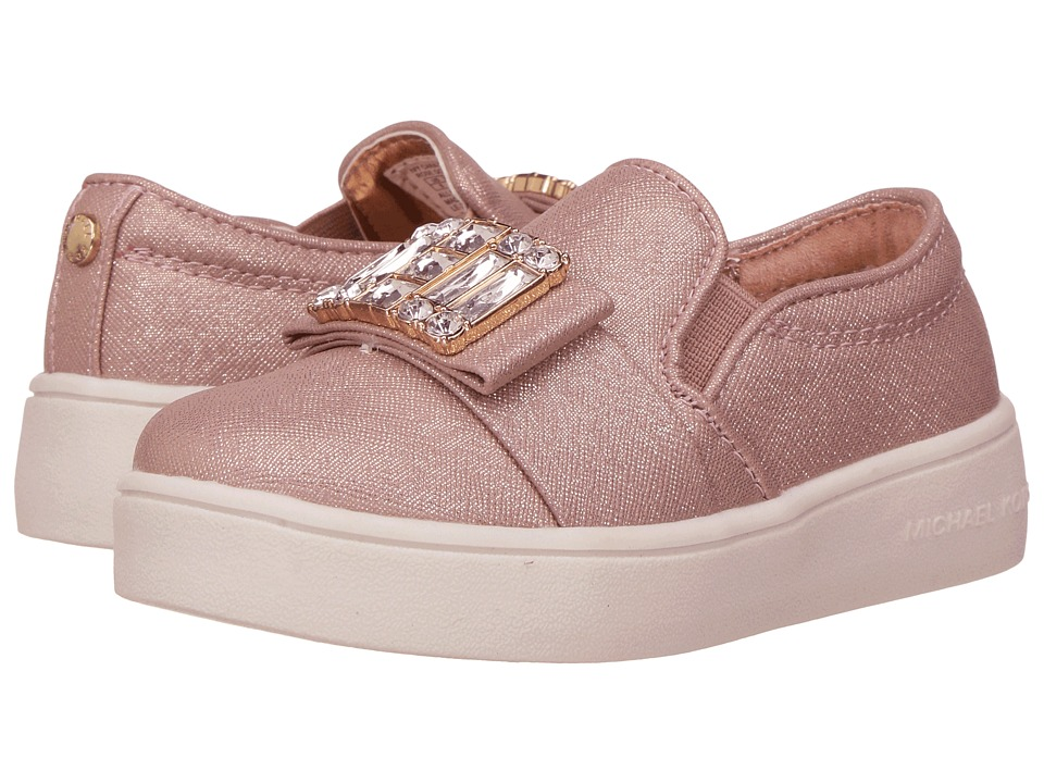 MICHAEL Michael Kors Kids - Ivy Cara (Toddler) (Rose Gold Saffiano) Girl's Shoes