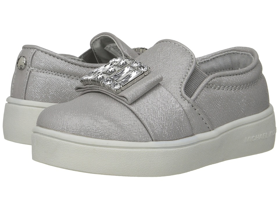 MICHAEL Michael Kors Kids - Ivy Cara (Toddler) (Silver Saffiano) Girl's Shoes