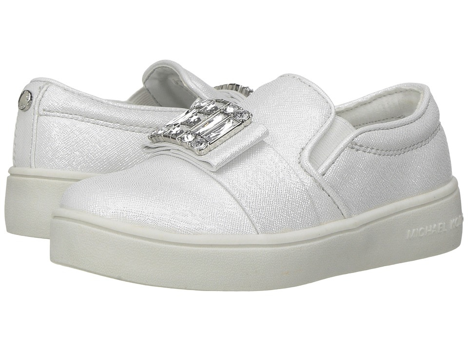 MICHAEL Michael Kors Kids - Ivy Cara (Toddler) (White Saffiano) Girl's Shoes
