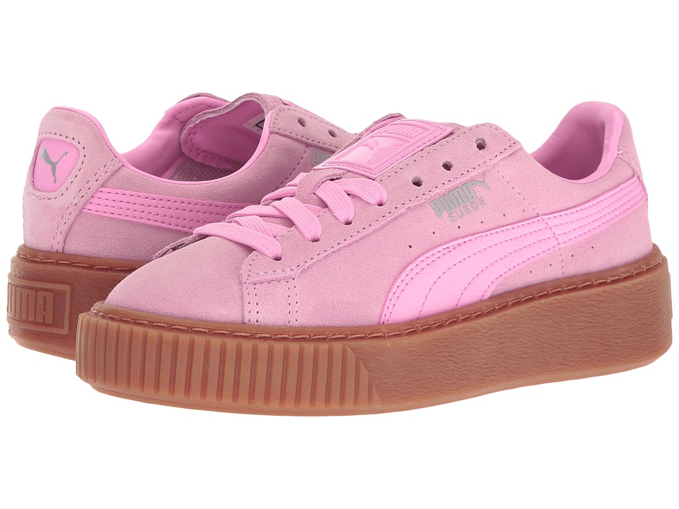 Puma Kids - Suede Platform Jr (Big Kid) (Prism Pink/Prism Pink) Girls Shoes