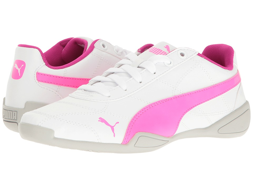 Puma Kids - Tune Cat 3 Jr (Big Kid) (Puma White/Knockout Pink) Girls Shoes