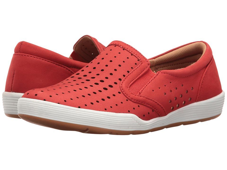 Comfortiva - Lyra (Hot Red Otago Softy Nubuck) Women's Slip on Shoes