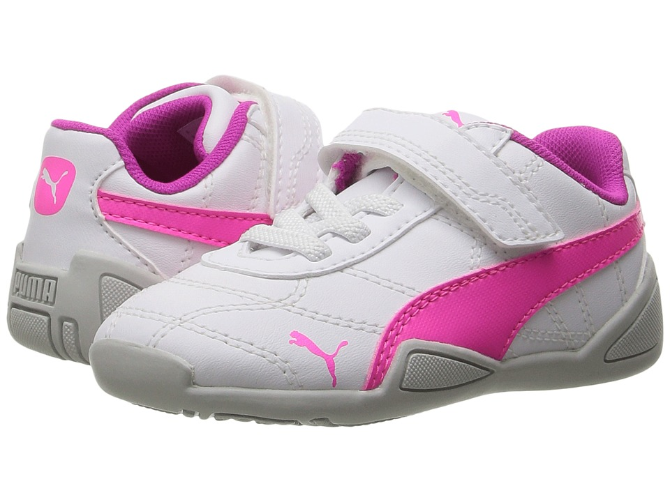 Puma Kids Tune Cat 3 V Inf (Toddler) (Puma White/Knockout Pink) Girls Shoes