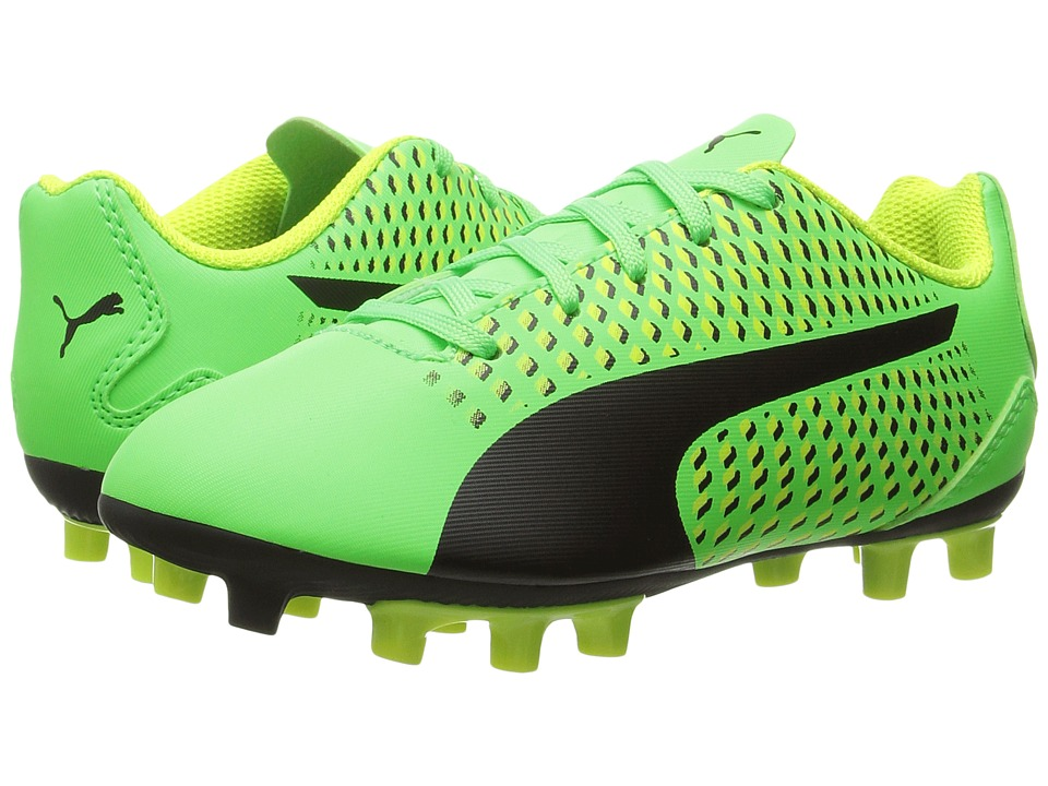 Puma Kids Adreno III FG Jr Soccer (Toddler/Little Kid/Big Kid) (Green Gecko/Puma Black/Safety Yellow) Kids Shoes