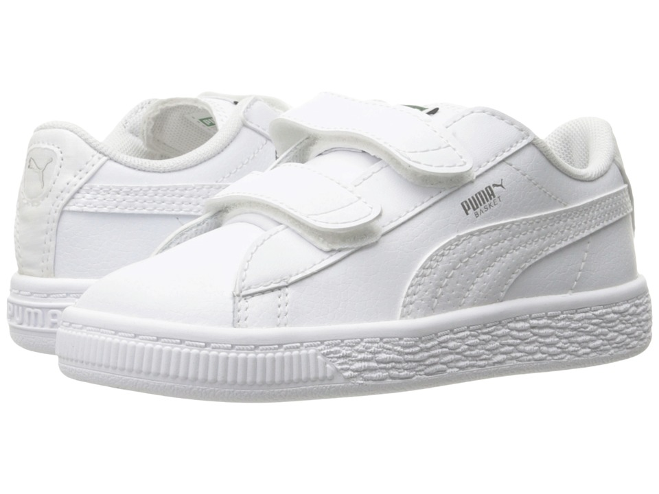 Puma Kids - Basket Classic L BTS V INF (Toddler) (White/Puma Silver) Kids Shoes