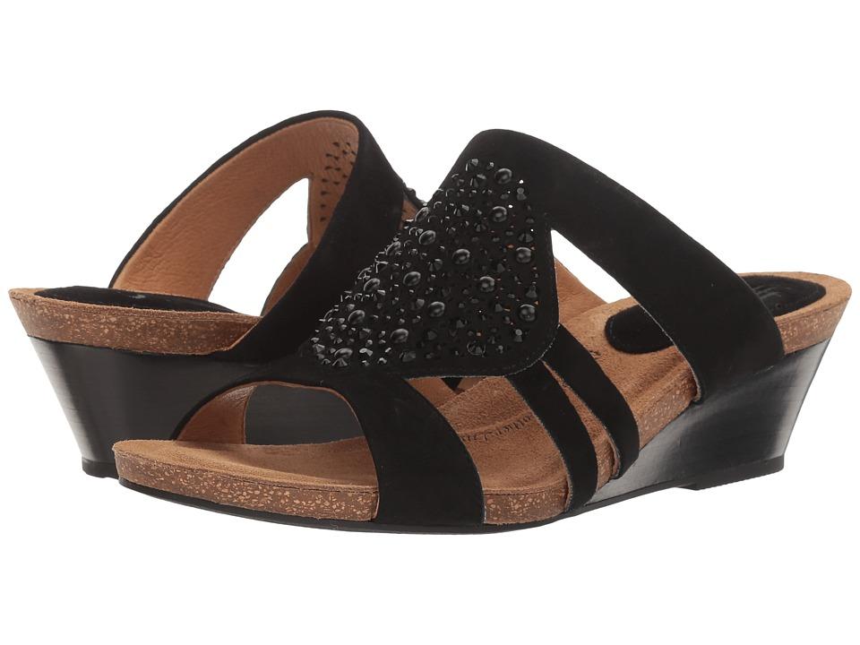 Sofft - Vassy (Black King Suede) Women's Sandals