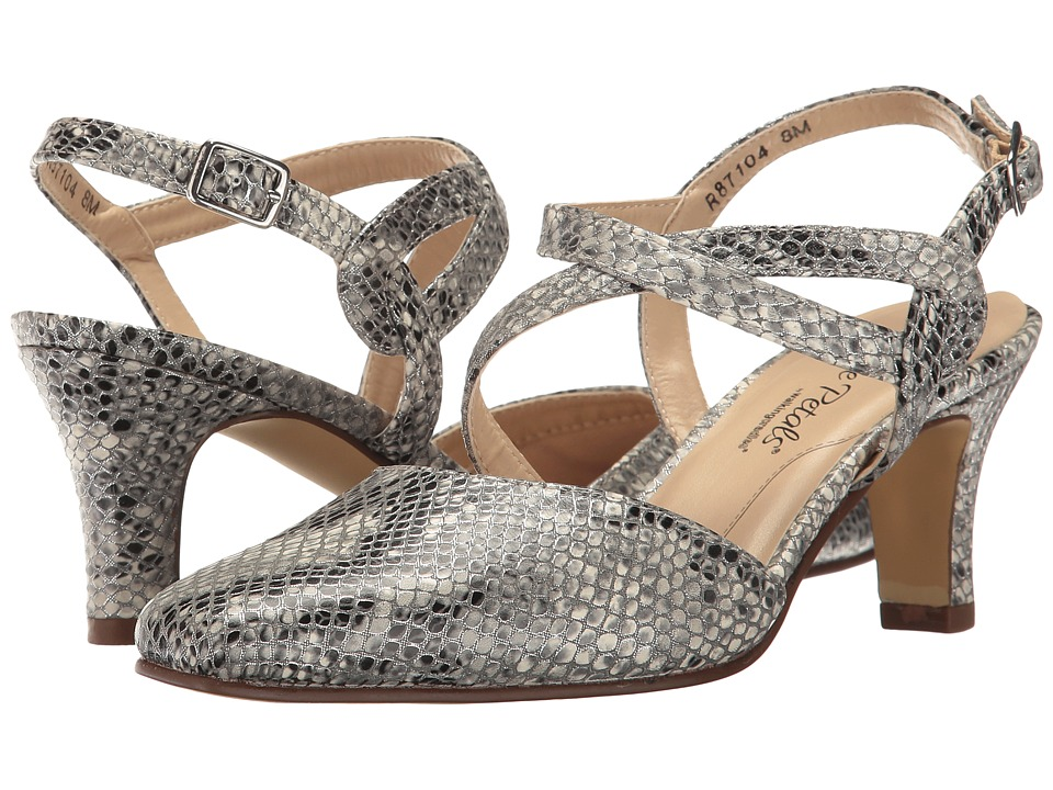 Walking Cradles - Rosie (White Multi Snake Print) High Heels