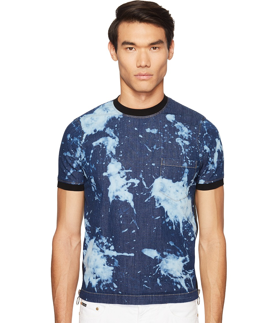 DSQUARED2 Street Ska Denim Side Zip T-Shirt (Blue) Men
