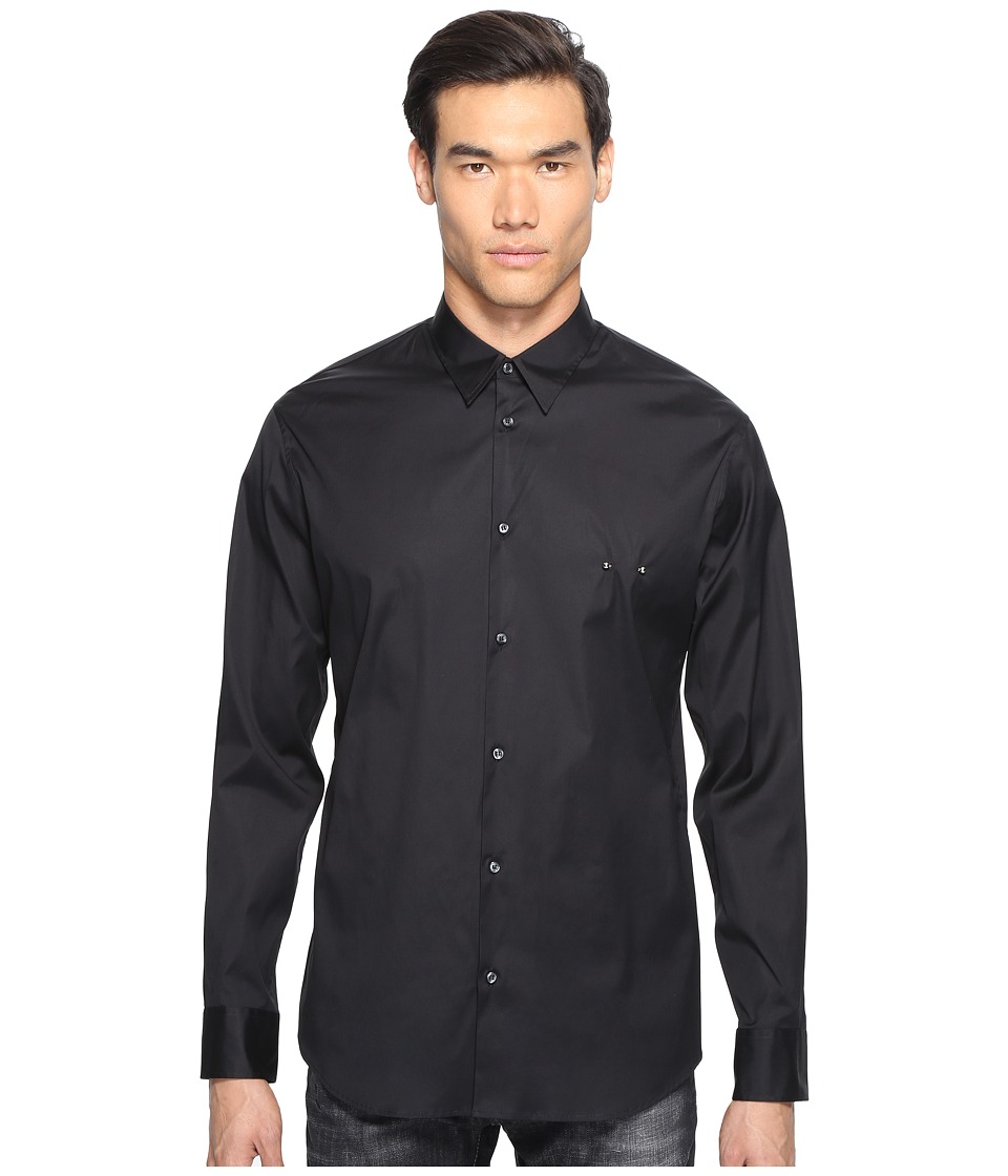 DSQUARED2 - Mod Evening Piercing Shirt (Black) Men's Clothing
