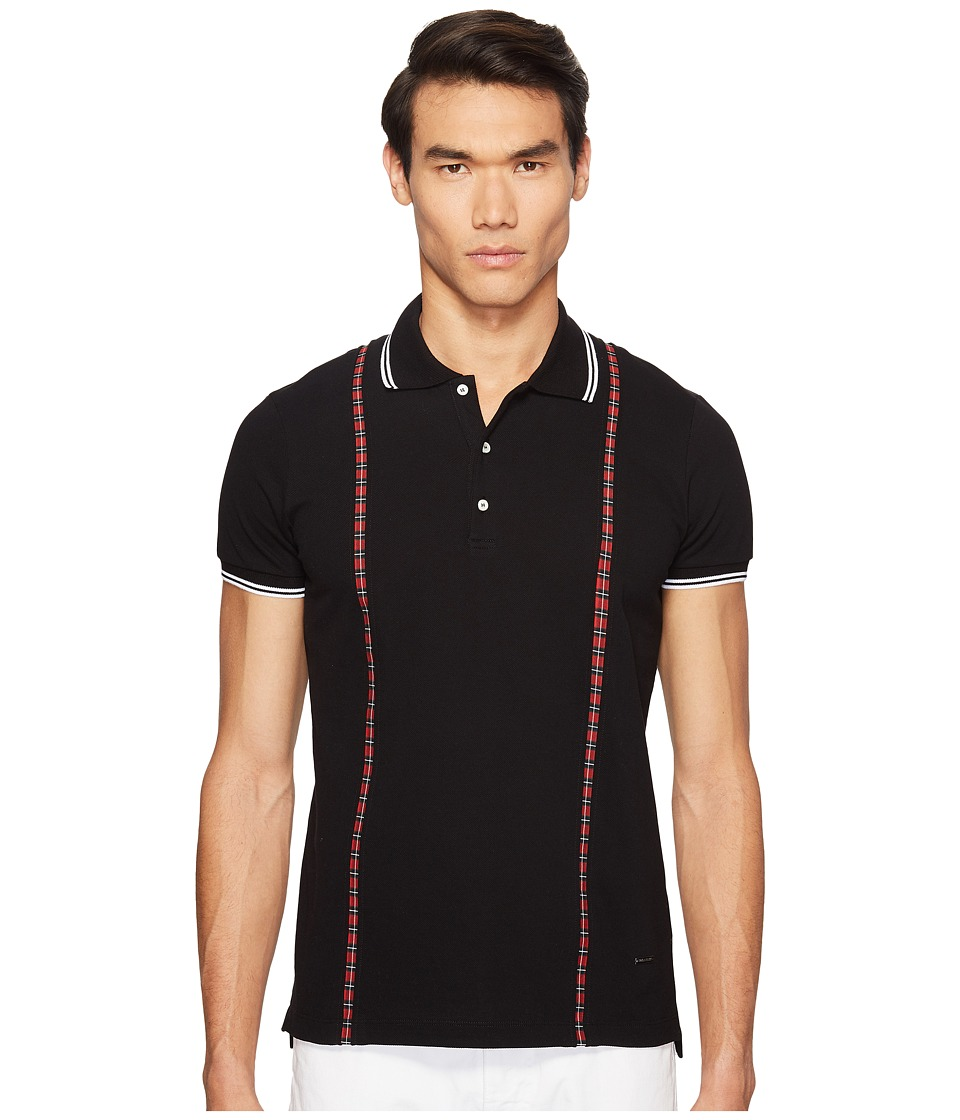 DSQUARED2 - Street Ska Polo (Black) Men's Clothing