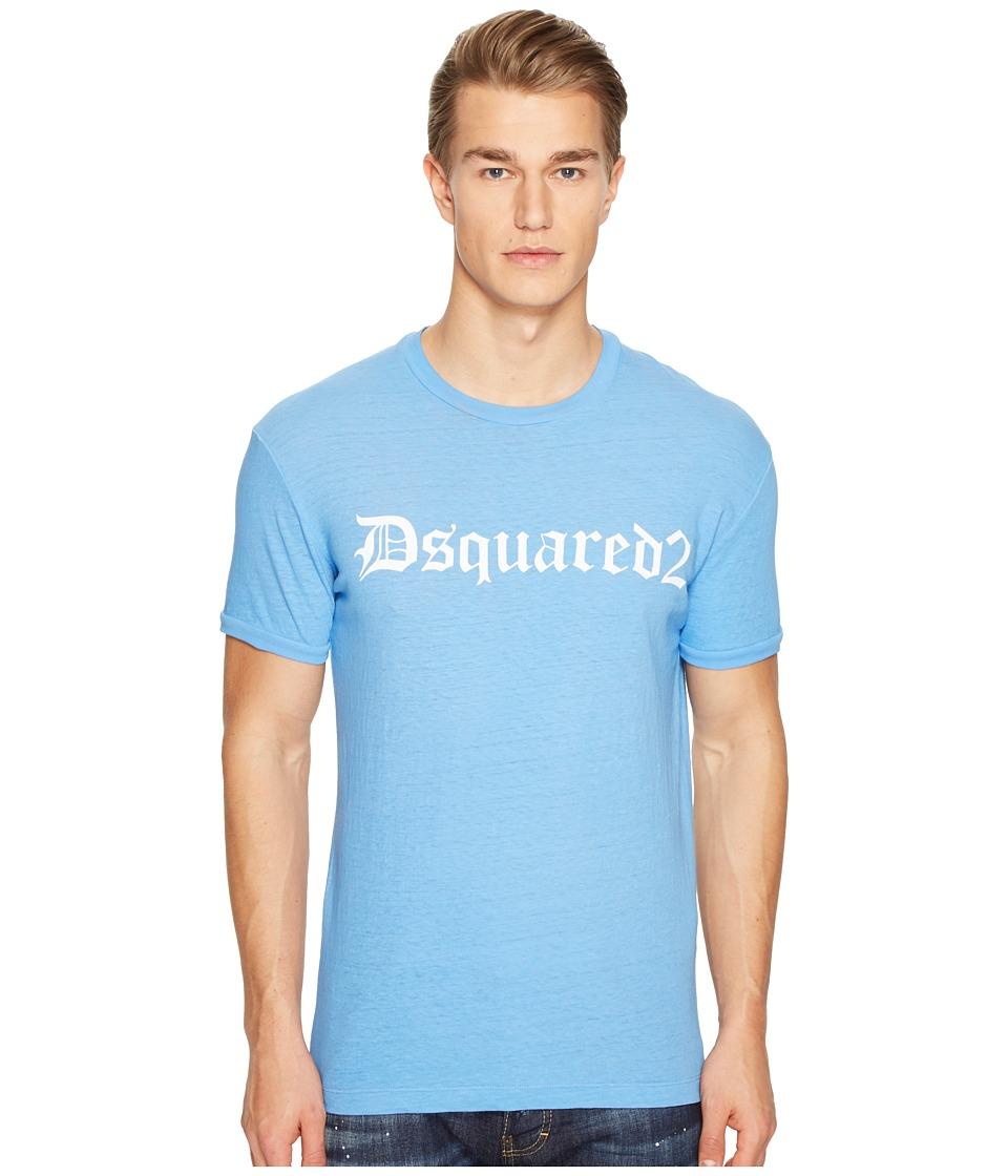 DSQUARED2 - Street Ska Gothic T-Shirt (Bluette) Men's T Shirt