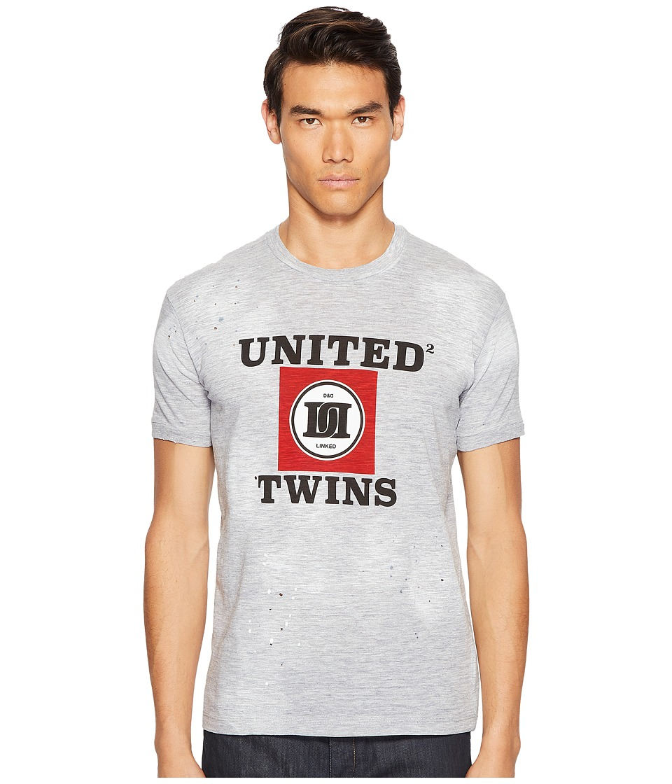 DSQUARED2 Street Ska United Twins T-Shirt (Grey Melange) Men