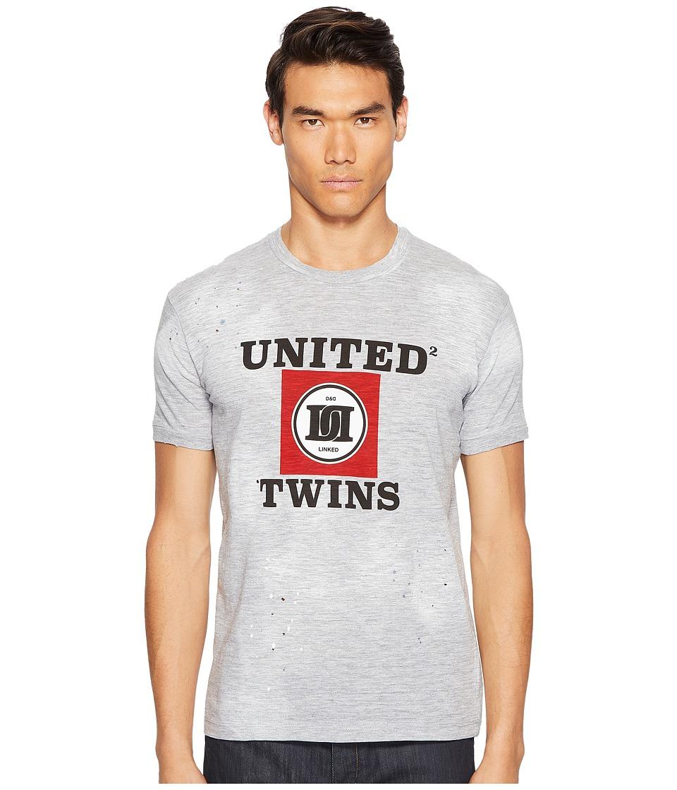 DSQUARED2 - Street Ska United Twins T-Shirt (Grey Melange) Men's T Shirt