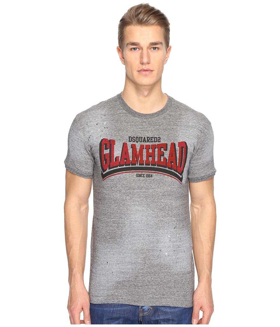 DSQUARED2 - Mod Evening Glamhead T-Shirt (Grey Melange) Men's T Shirt