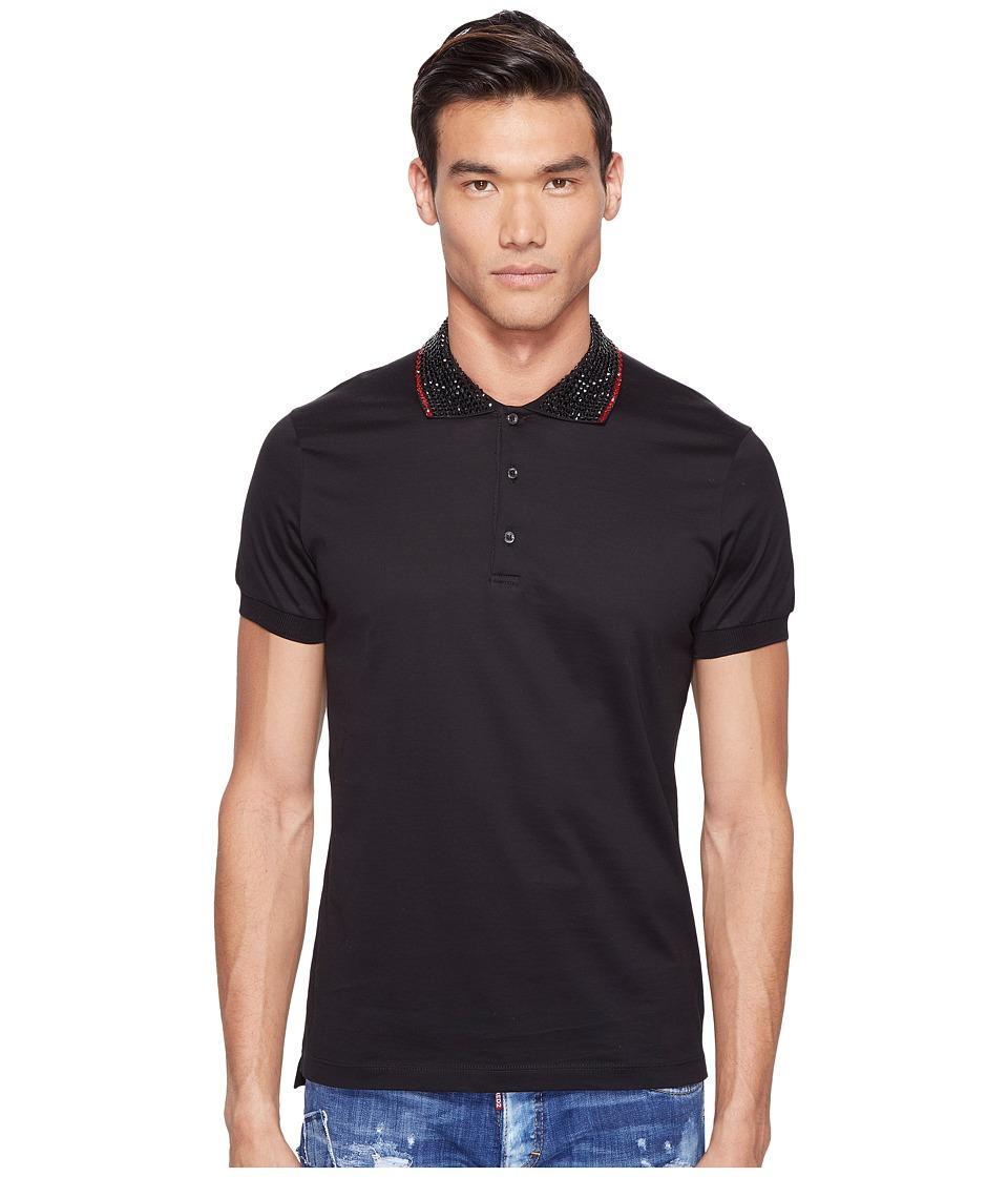 DSQUARED2 - Mod Evening Polo (Black) Men's Clothing