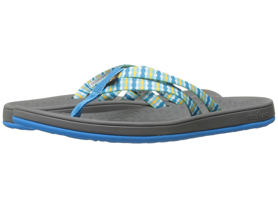 Bogs Hudson Webbing Stripes (Light Blue Multi) Women
