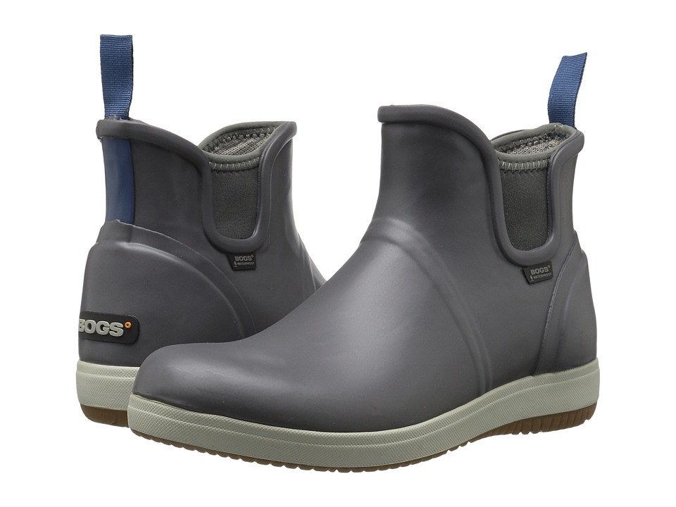 Bogs - Quinn Slip-On Boot (Gray) Women's Boots