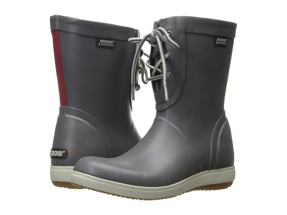 Bogs - Quinn Lace Boot (Gray) Women's Boots
