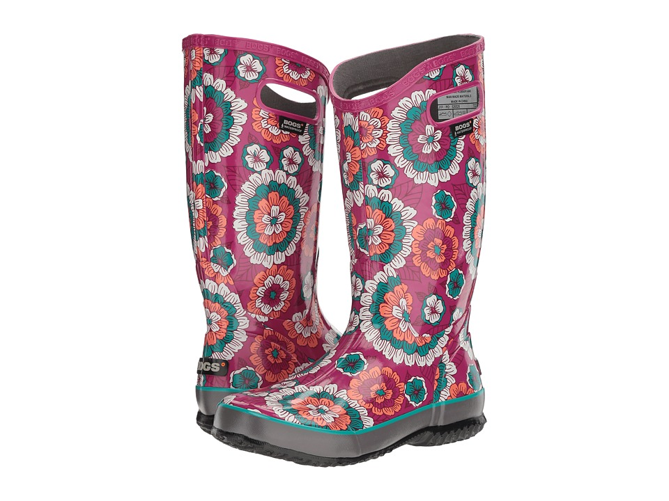 Bogs Rain Boot Pansies (Berry Multi) Women