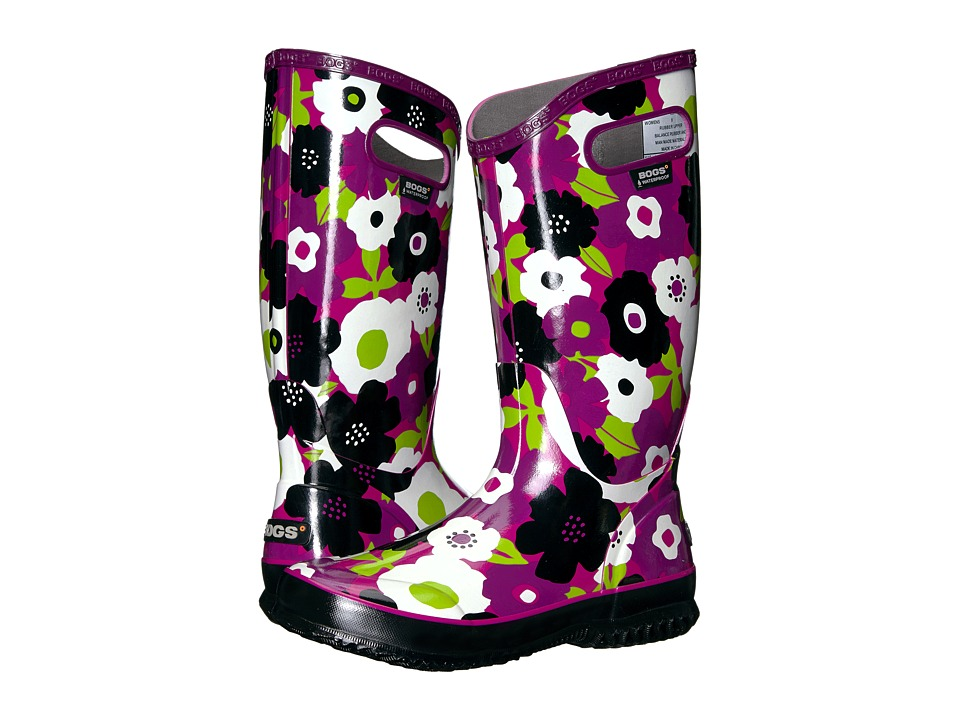 Bogs Rain Boot Spring Flowers (Purple Multi) Women