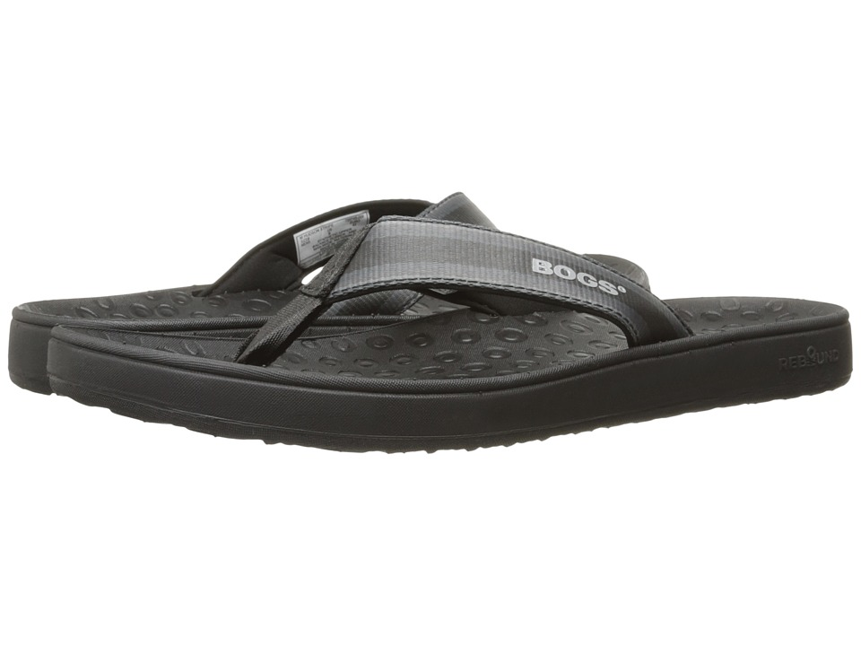 Bogs - Hudson Webbing Stripes (Black Multi) Men's Sandals