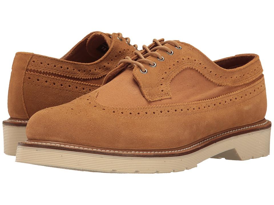 Dr. Martens - 3989 (Chestnut Hi Suede WP/Canvas) Men's Boots