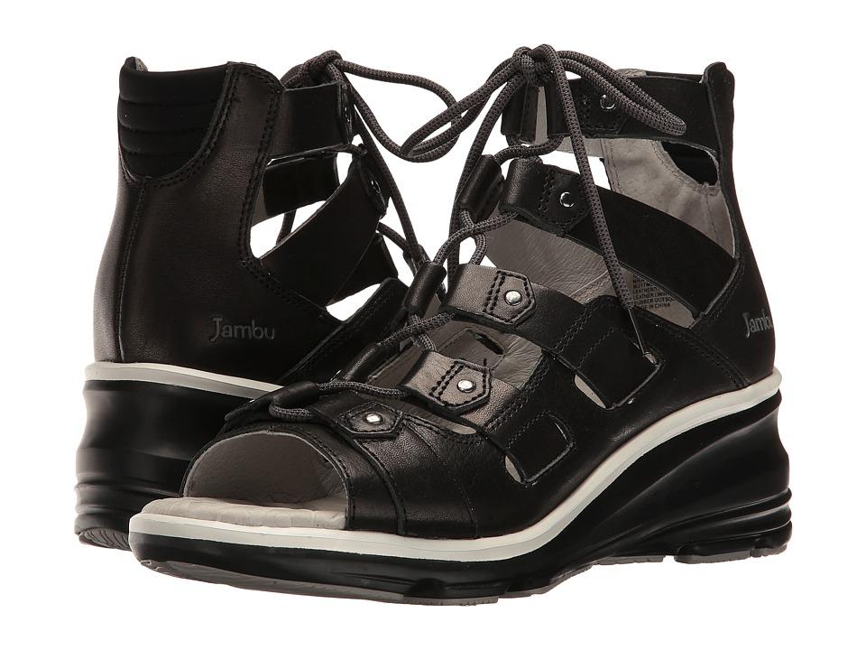 Jambu Milano (Black) Women's Wedge Shoes