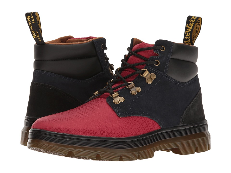 Dr. Martens - Rakim (Dark Red/Dress Blues/Black Rhombus Nylon Mesh/Hi Suede WP) Boots