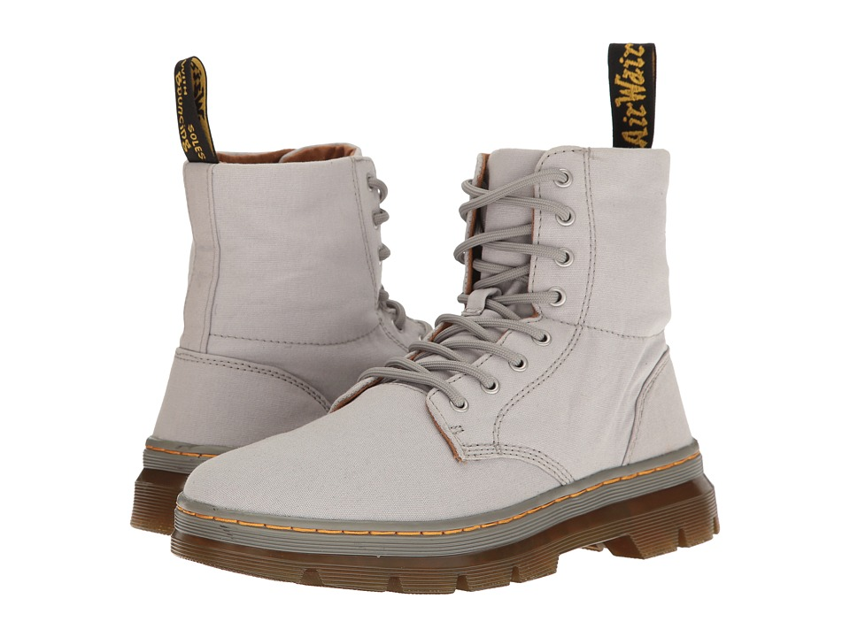 Dr. Martens Combs (Mid Grey Canvas) Boots
