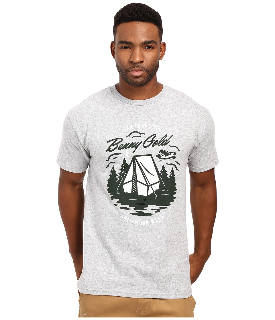 Benny Gold - Camping Tee (Heather Grey) Men's T Shirt