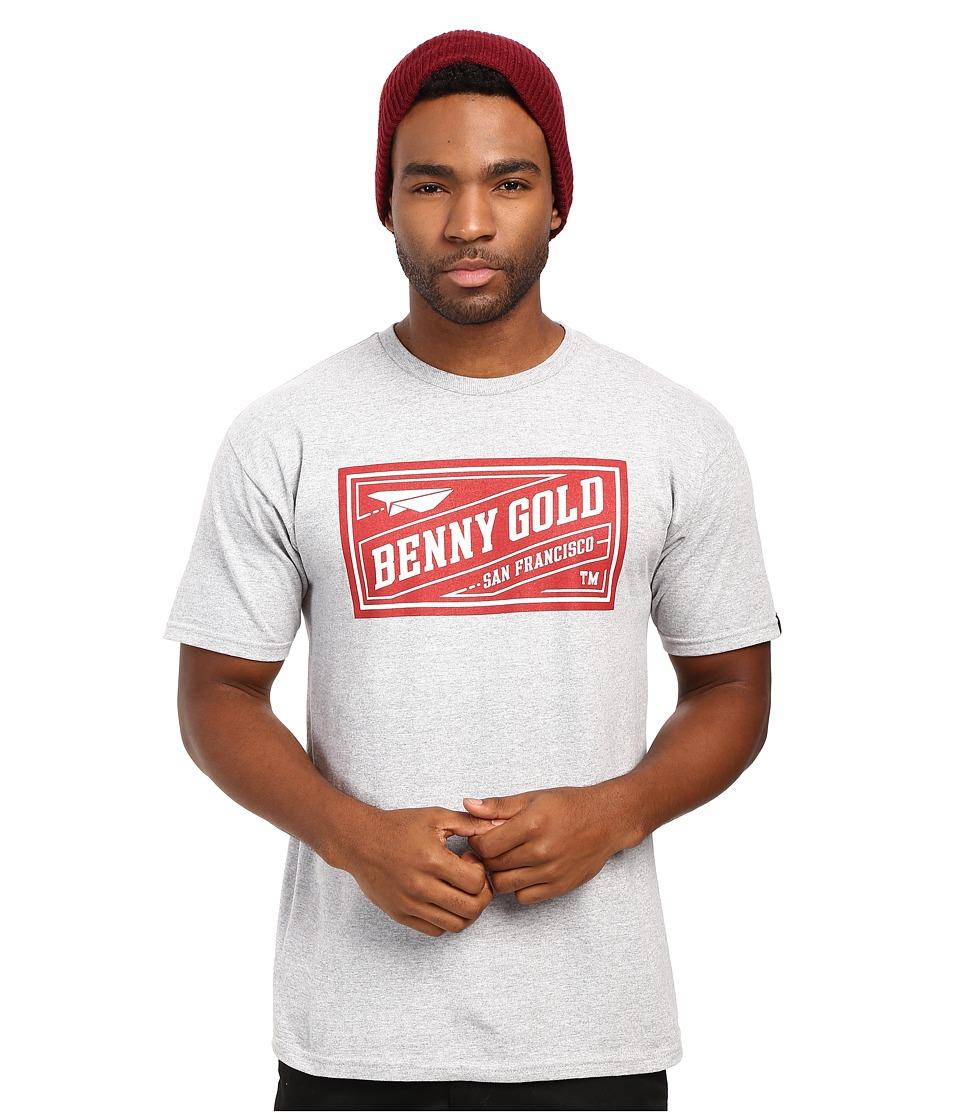 Benny Gold - BG Classics Stamp Tee (Heather Grey/Red) Men's T Shirt